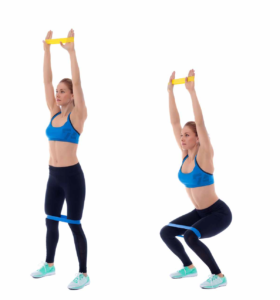 Fitnessband Übungen Squats