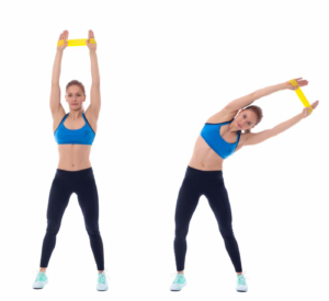 Fitnessband Übungen Side Bending