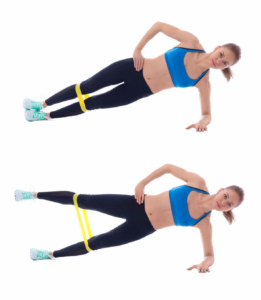 Fitnessband Übungen Side Plank