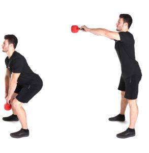 entraînement du dos Kettlebell