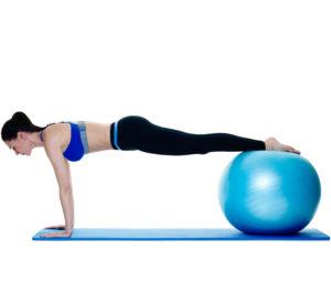 Pezziball Übungen Plank