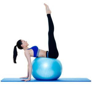 Pezziball Übungen Beinfall