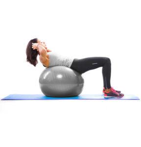 Pezziball Übungen Crunch
