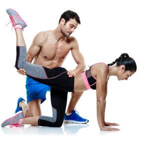 Partner Workout Hilfestellung