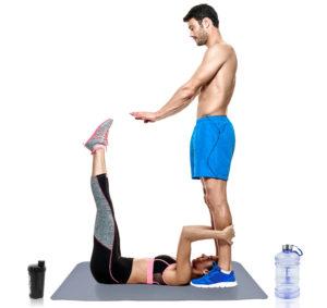 Partner Workout Beinpendel