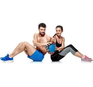 Partner Workout Ball Rotation