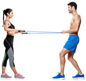 Partner Workout Seitheben