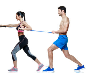 Partner Workout Brustdrücken