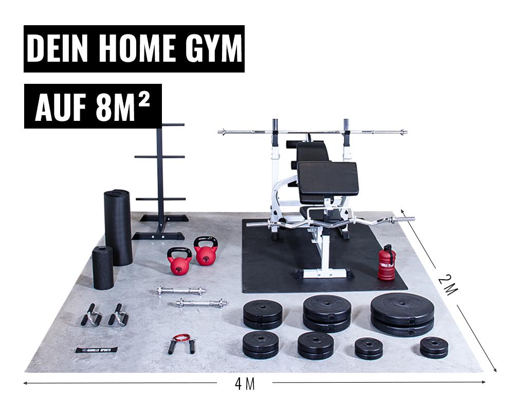 Home Gym einrichten 8m2