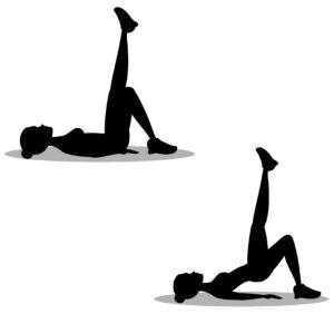 Hüftheben mit Beinabduktion