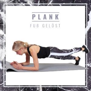 Plank mit Fuß gelöst