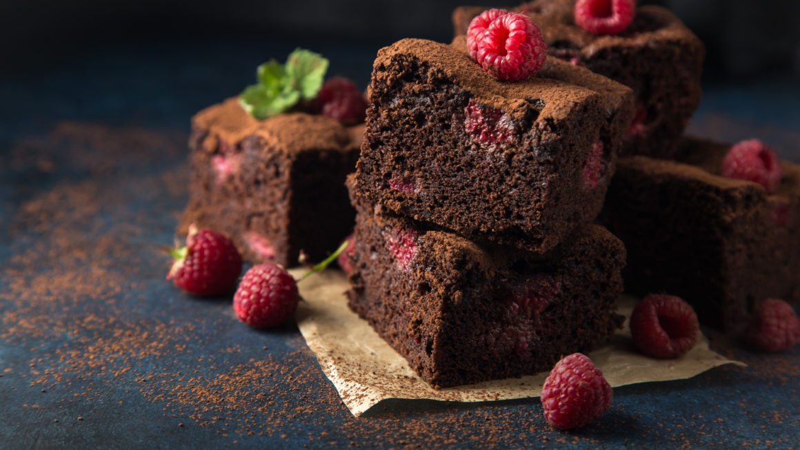 Schoko-Himbeer-Brownie
