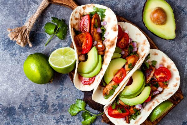 Mexikanische Wraps mit Chicken