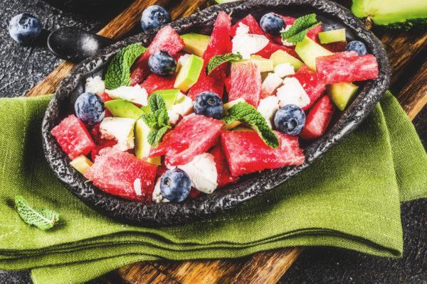 Sommersalat mit Wassermelone