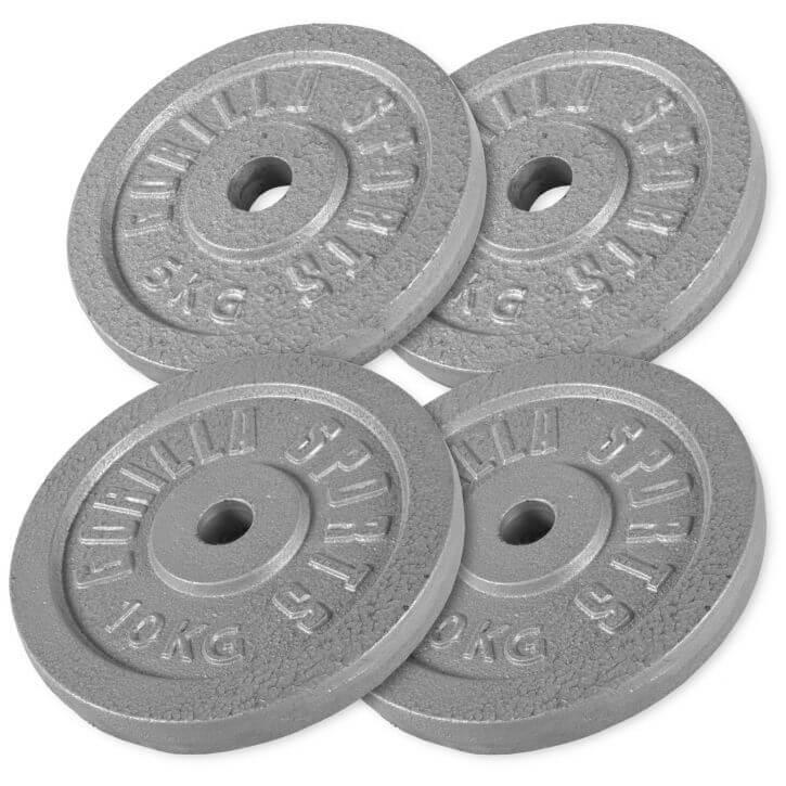 Hantelscheibenset Gusseisen 30 kg - 2 x 5 - 2 x 10 kg