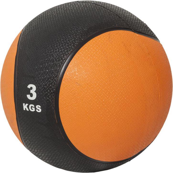 Medizinball Orange/Schwarz 3 kg