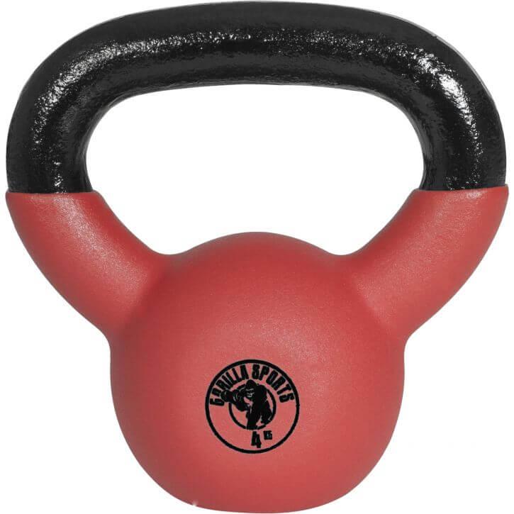 Red Rubber Kettlebell 4 kg