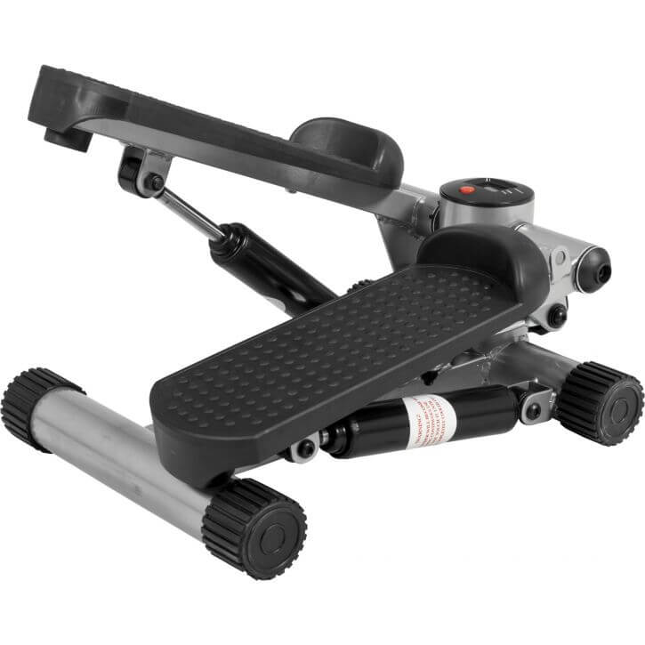 Mini Fitness Stepper mit Expander Grau/Schwarz