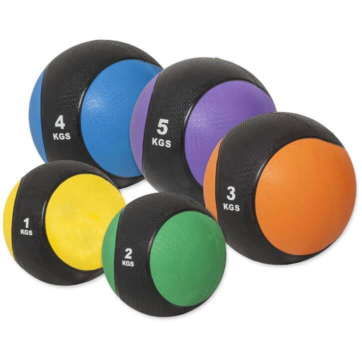 Medizinballset 1x 1kg, 2kg, 3kg, 4kg, 5kg Set 15 kg