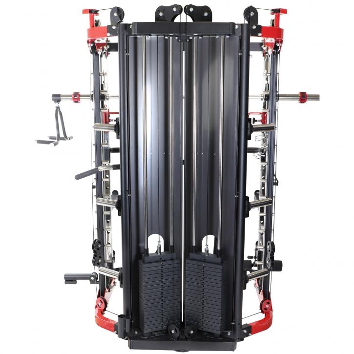 Multistation Power Rack mit Gewichten