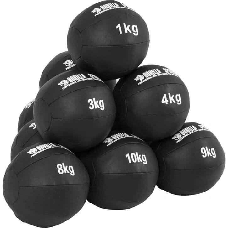 Medizinball aus Leder 1 - 10 kg