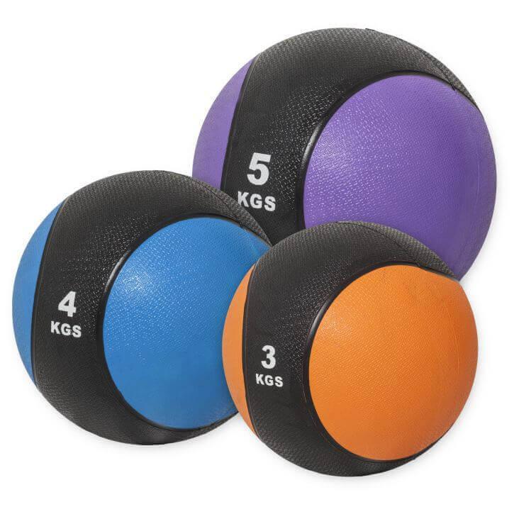 Medizinballset 1x 3kg, 4kg, 5kg Set 12 kg