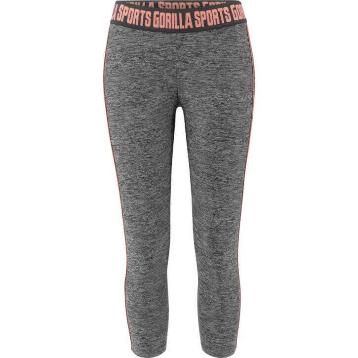 sport leggings functional grau rosa l gorilla sports. Black Bedroom Furniture Sets. Home Design Ideas