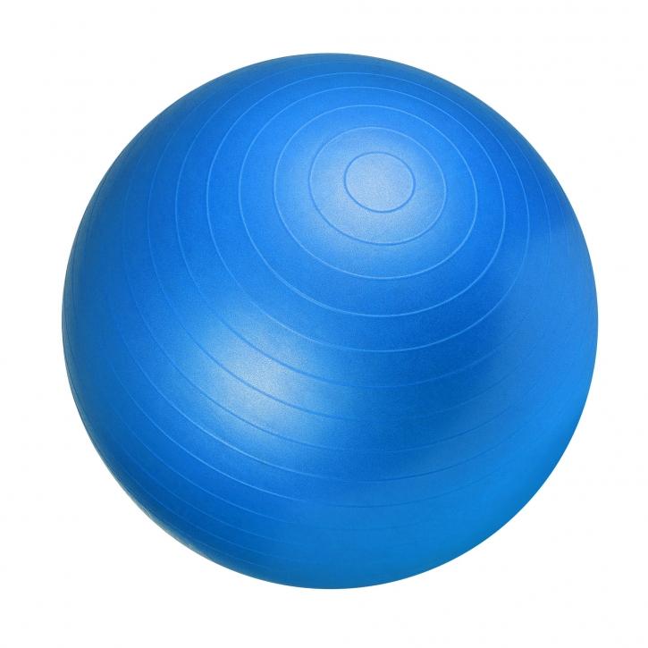 Gorilla Sports Gymnastikball 75 cm Blau Luftpumpe 100490-00030-0061
