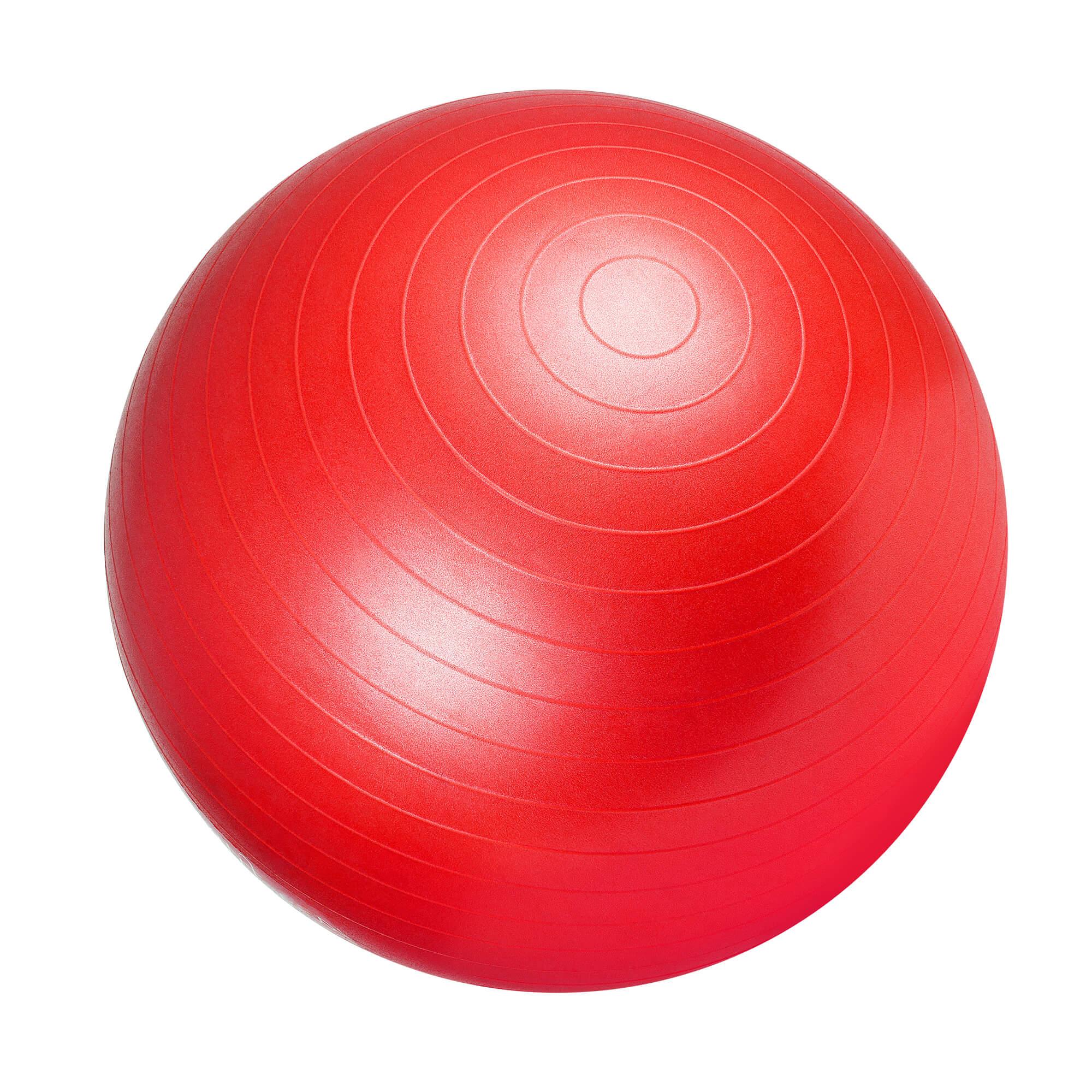 Gorilla Sports Gymnastikball 75 cm Rot Luftpumpe 100490-00038-0061