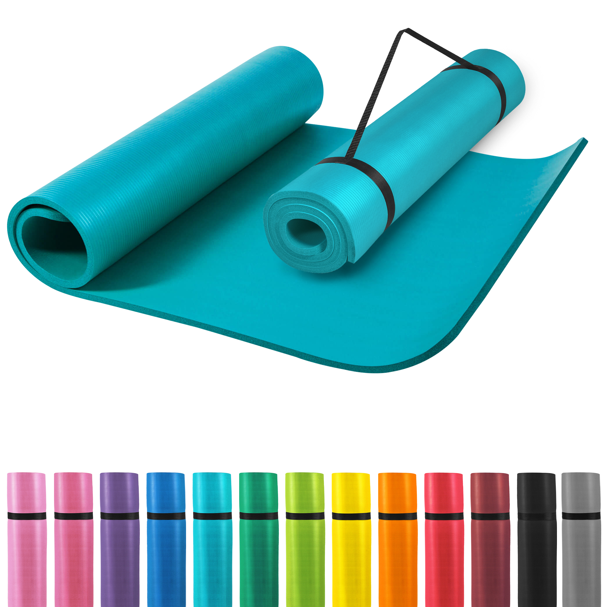 Gorilla Sports Yogamatte Blau 190 x 100 x 1,5 cm 100524-00030-0134