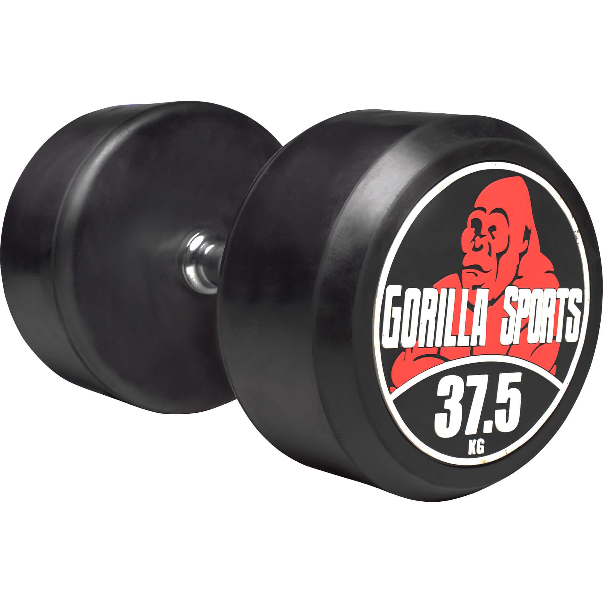 Gorilla Sports Rundhantel Schwarz/Rot 37,5 kg 100532-00049-0037