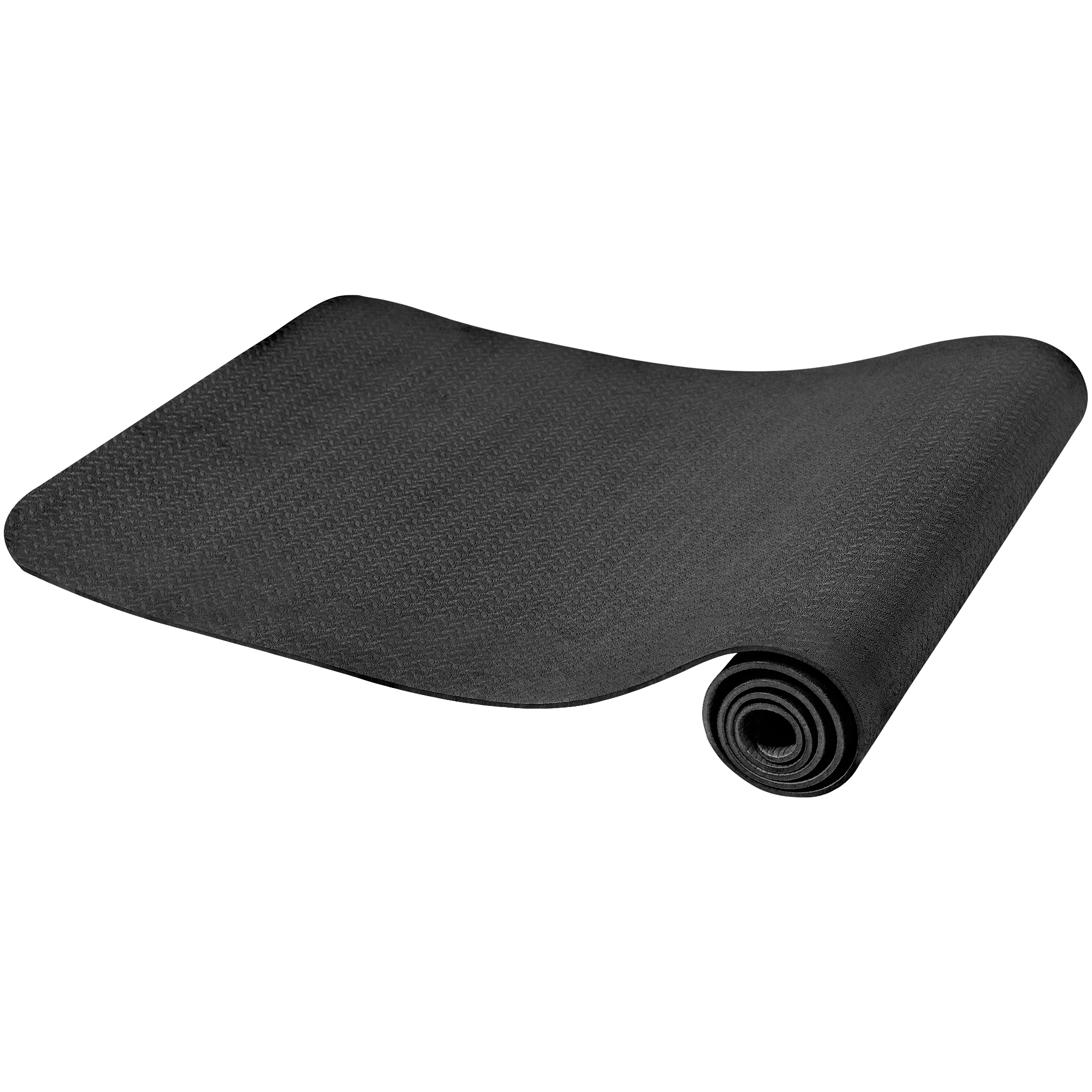 Gorilla Sports Yogamatte Dünn Schwarz 4 mm 100815-00019-0071