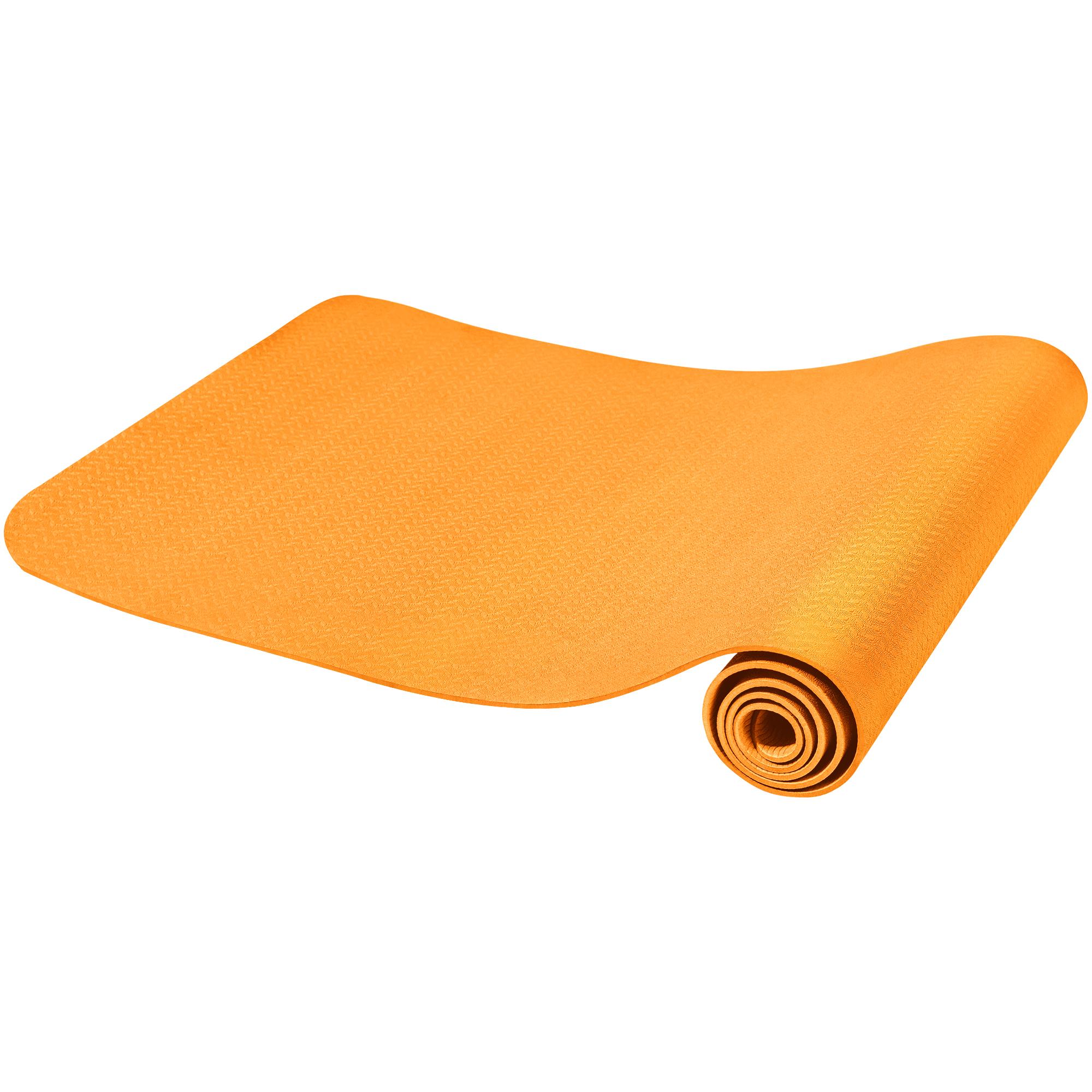 Yogamatte Dünn Orange 4 mm