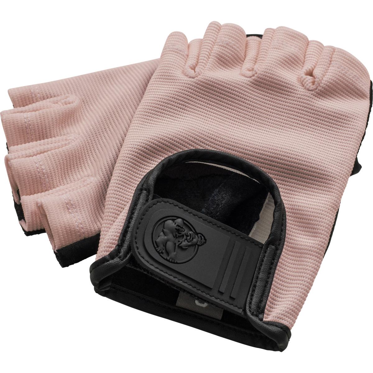 Fitness Handschuhe Leder Rosa M