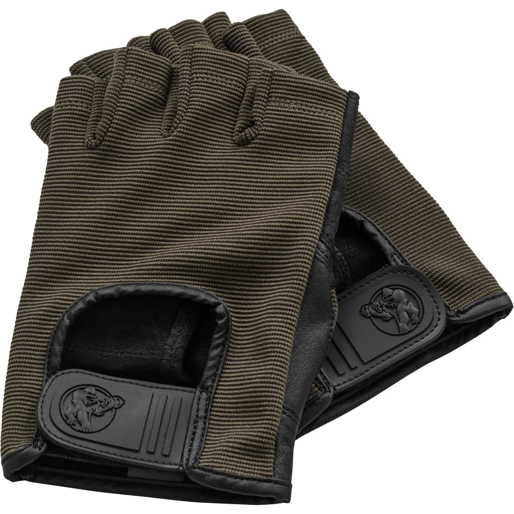 Fitness Handschuhe Leder Khaki XS