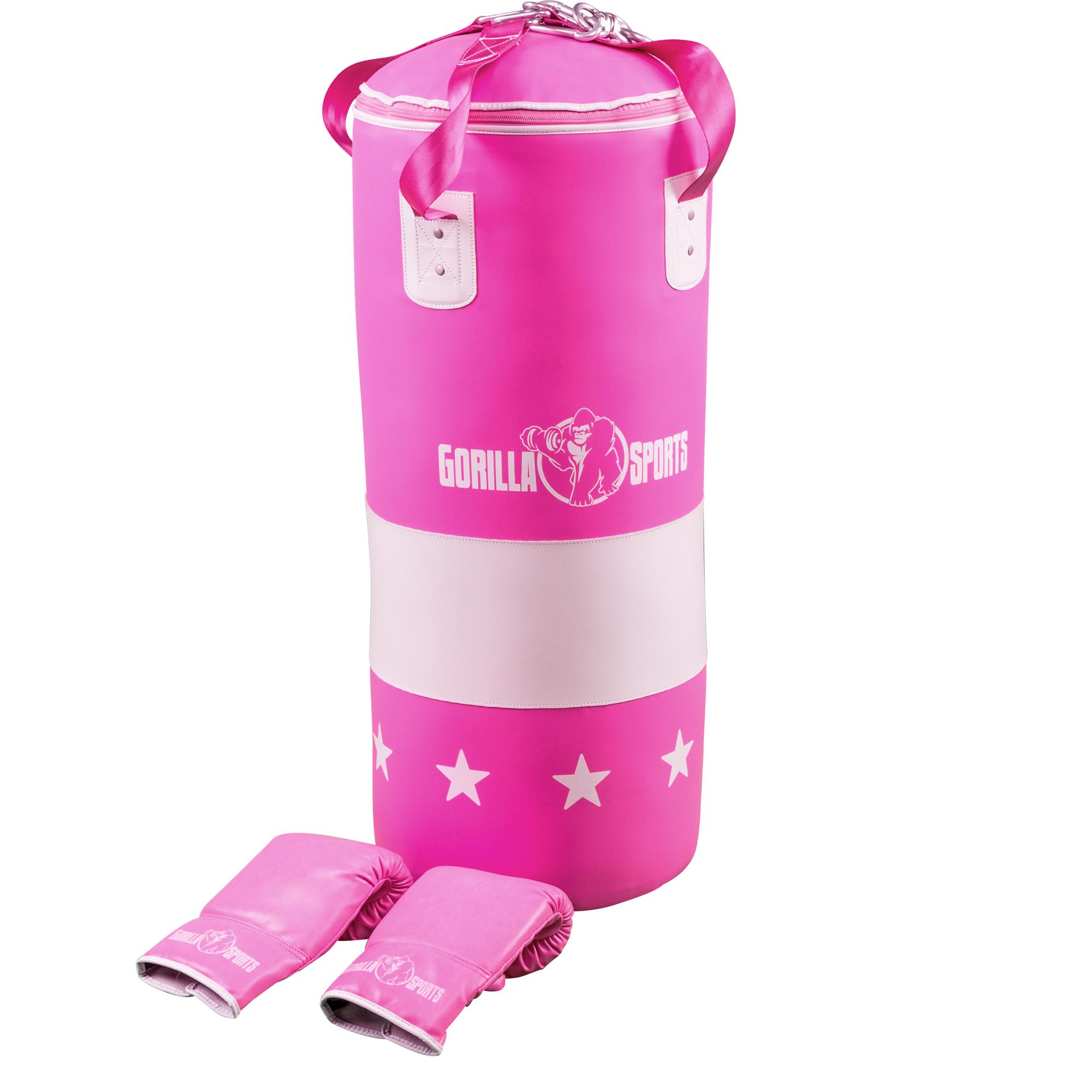 Boxsack Set mit Handschuhen pink