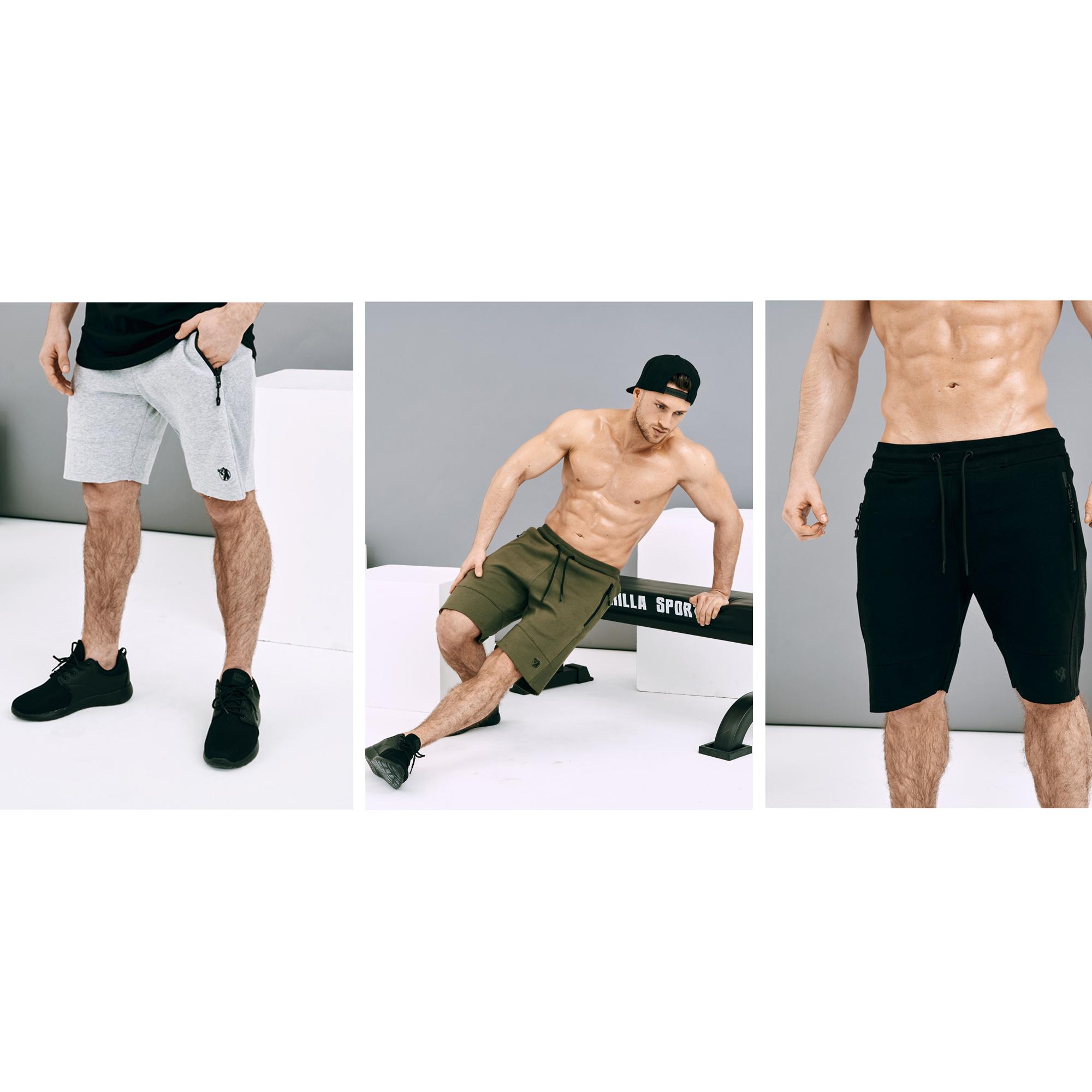 Shorts Sport in Grau/Schwarz/Olive
