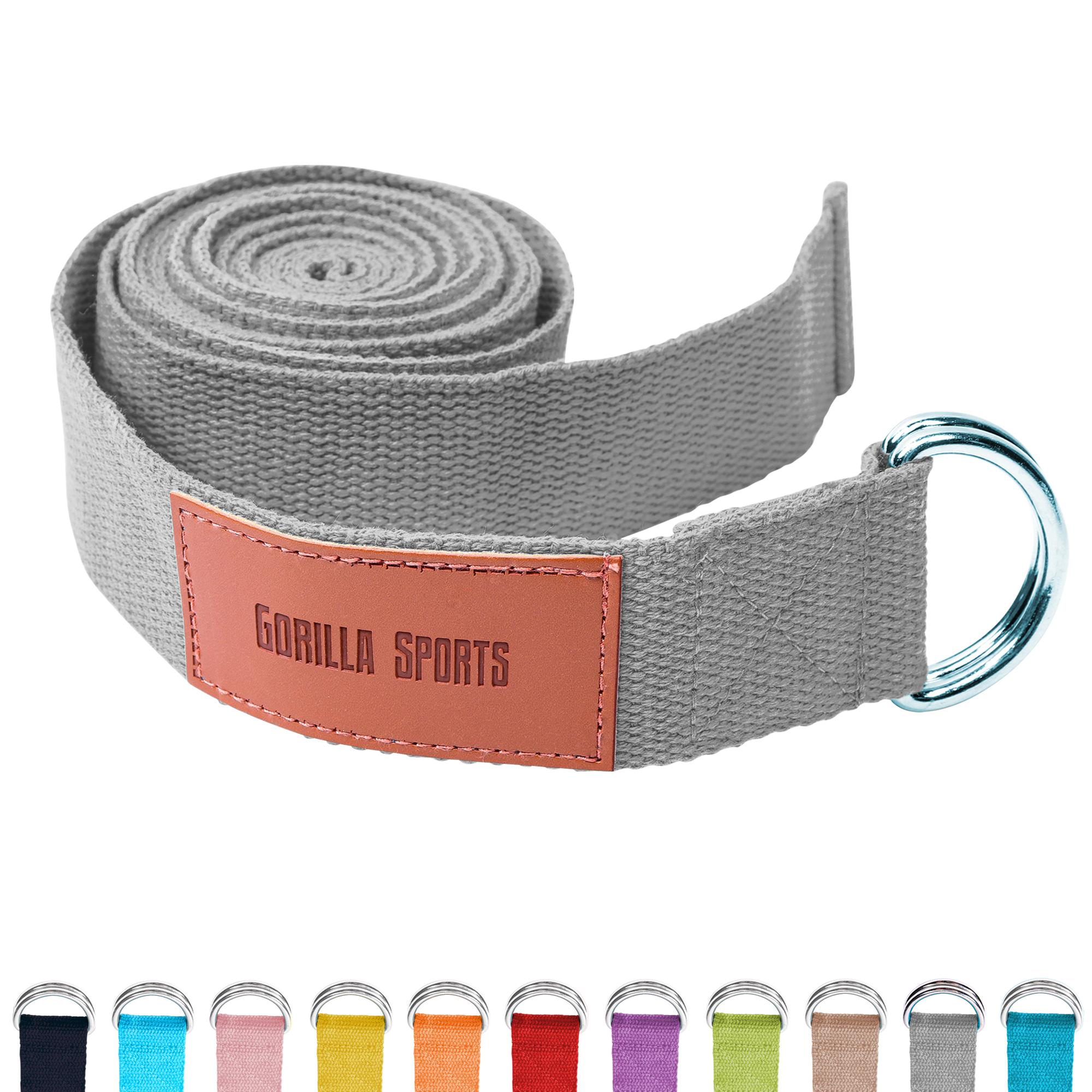 Gorilla Sports Yogagurt Grau 260 x 3,8 cm 101048-00033-0219