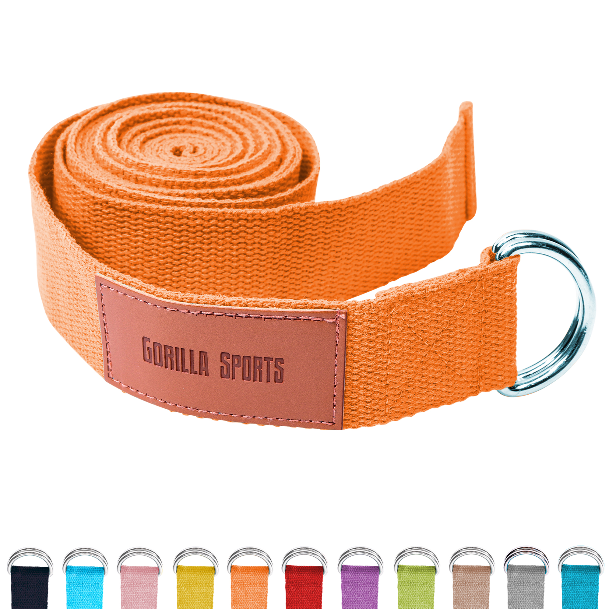 Gorilla Sports Yogagurt Orange 260 x 3,8 cm 101048-00036-0219