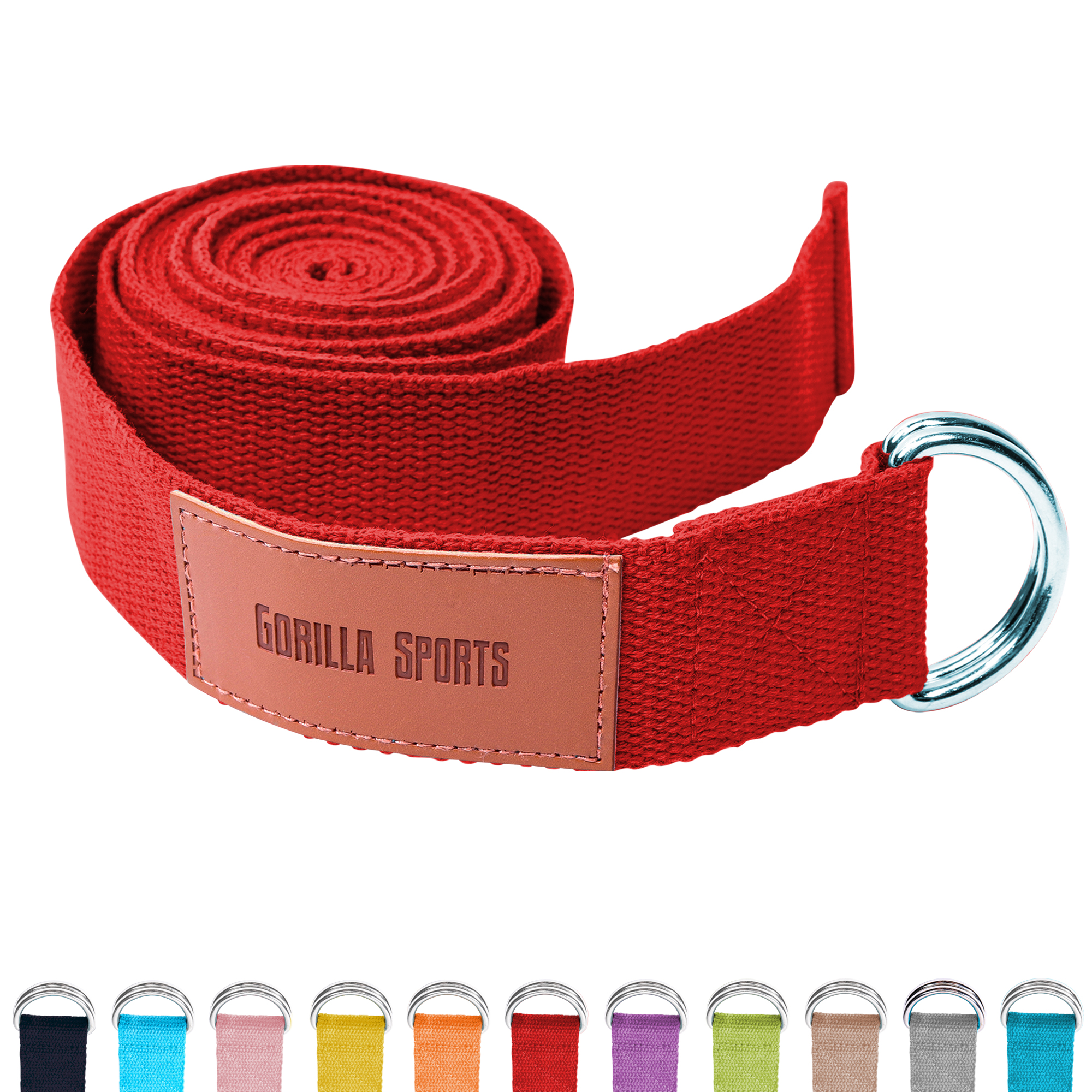Gorilla Sports Yogagurt Rot 260 x 3,8 cm 101048-00038-0219