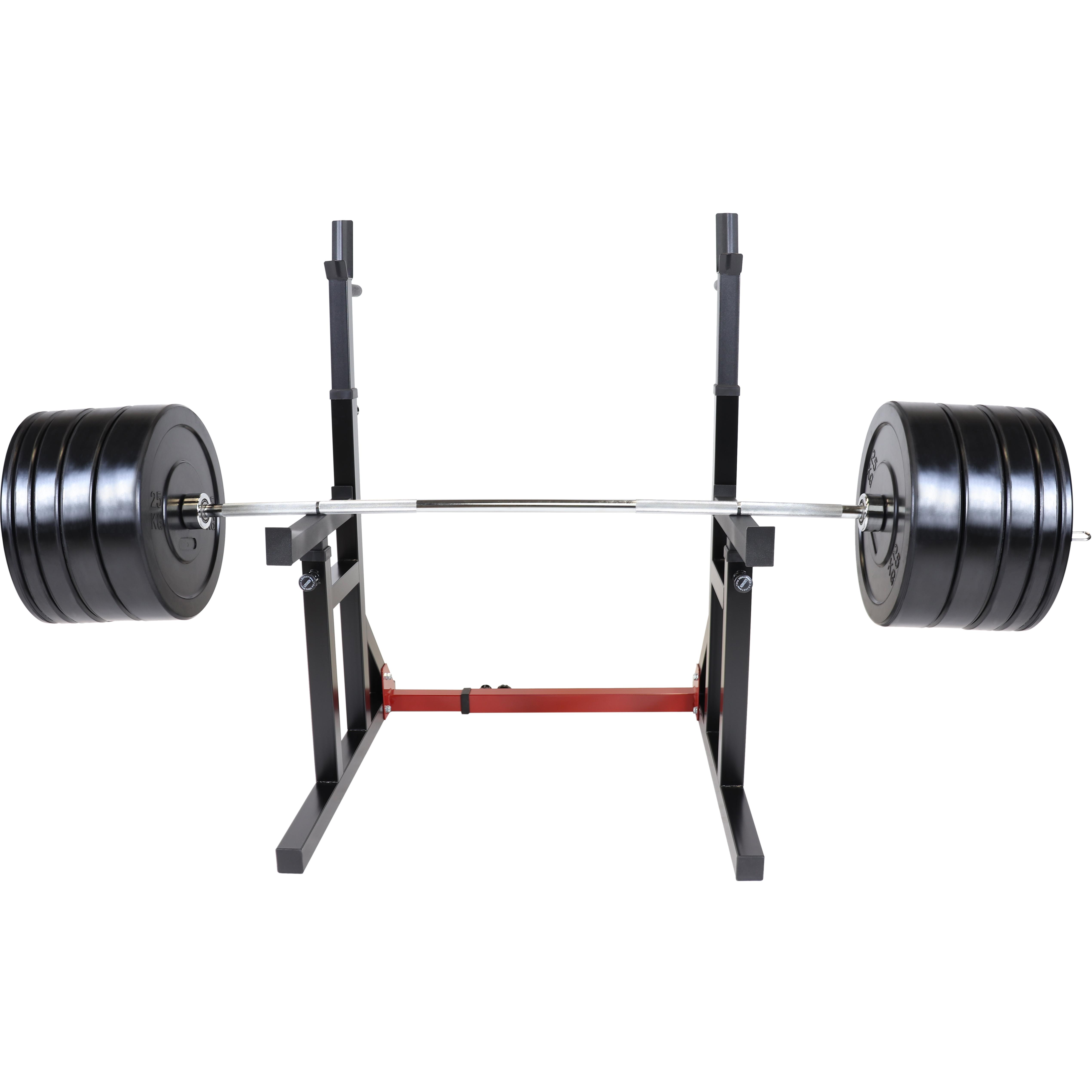 Squat Rack inkl. Olympia Bumper Plate Langhantelset 170 kg