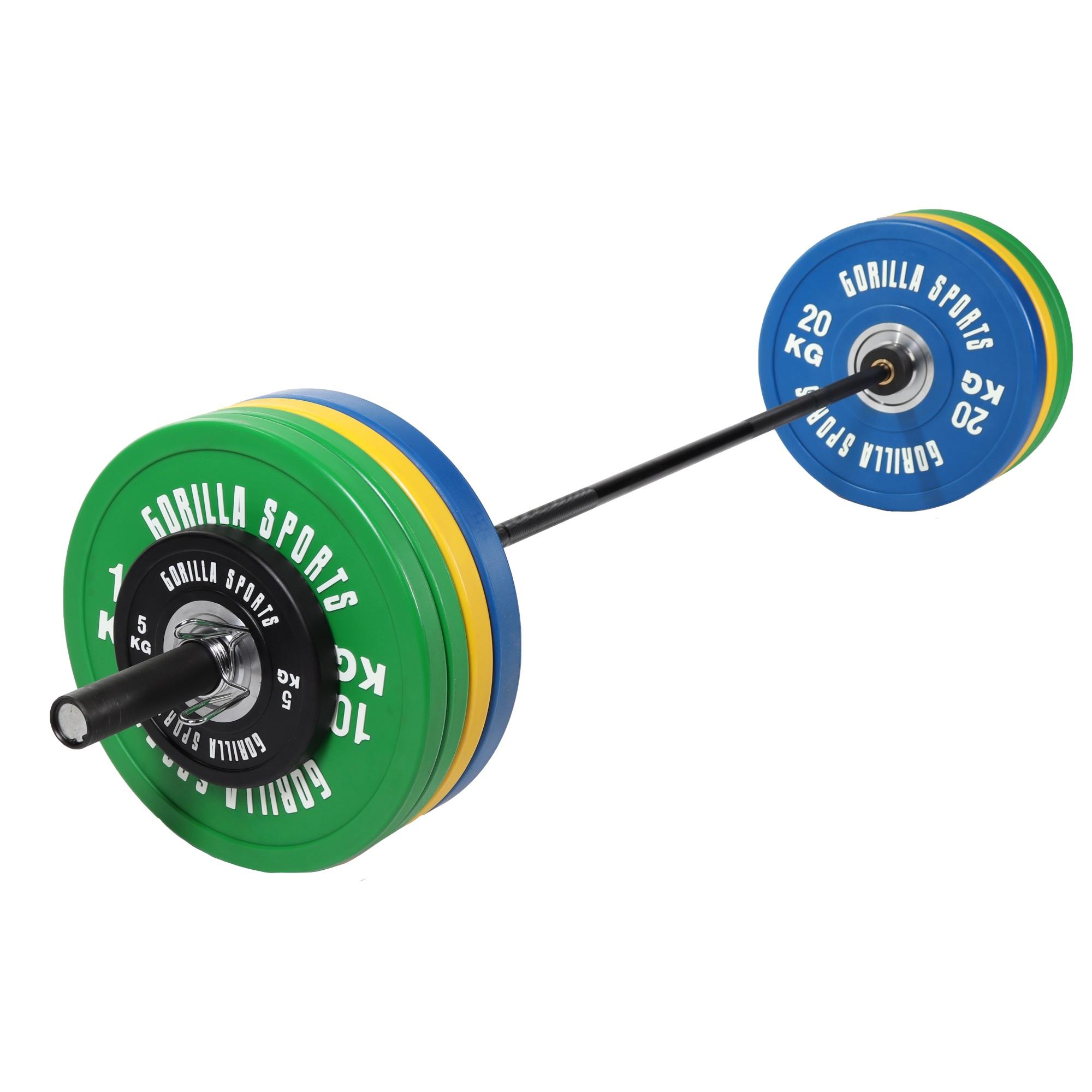 Olympia Bumper Plates Langhantelset Profi 140 kg