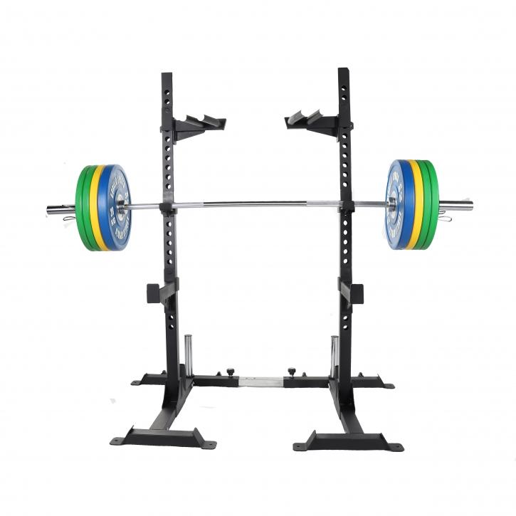 Squat Rack inkl. Olympia Langhantelset Profi 140 kg