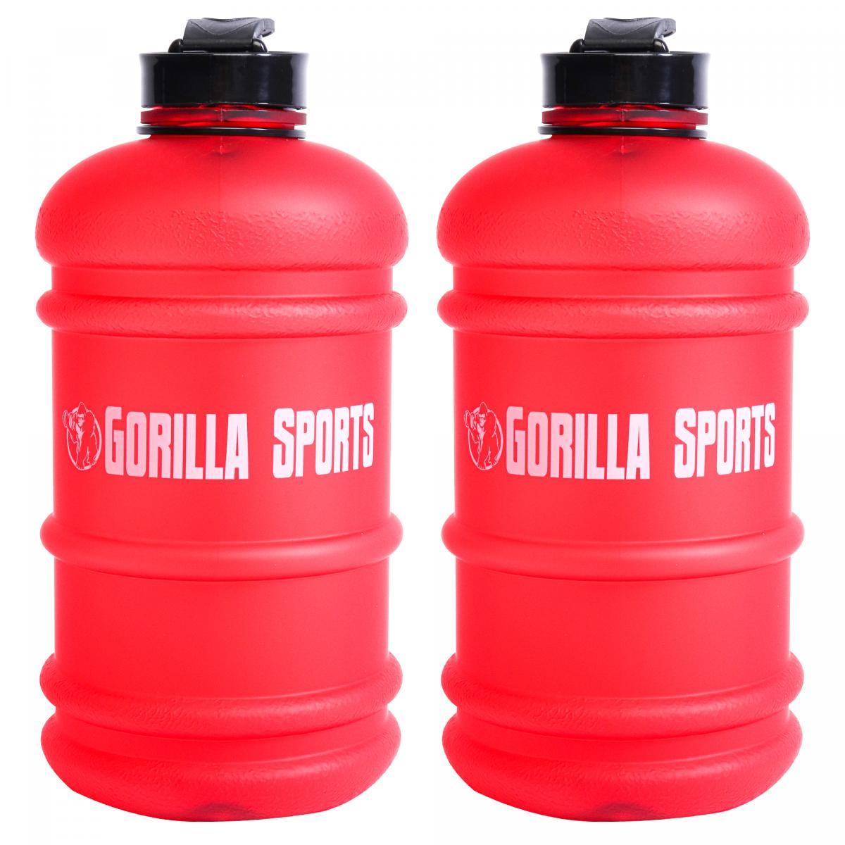 Gorilla Sports 2er Set Trinkflasche Gallone 2,2 L Rot 101171-00038-0137