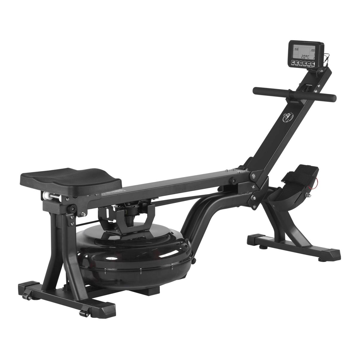 Gorilla Sports Wasserrudergerät mit Trainingscomputer Schwarz/Rot 101115-00019-0001