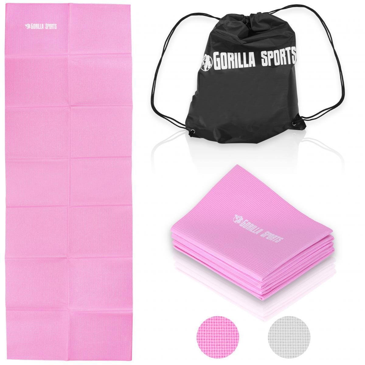 Gorilla Sports Yogamatte faltbar inkl. Beutel in Rosa 101117-00063-0136
