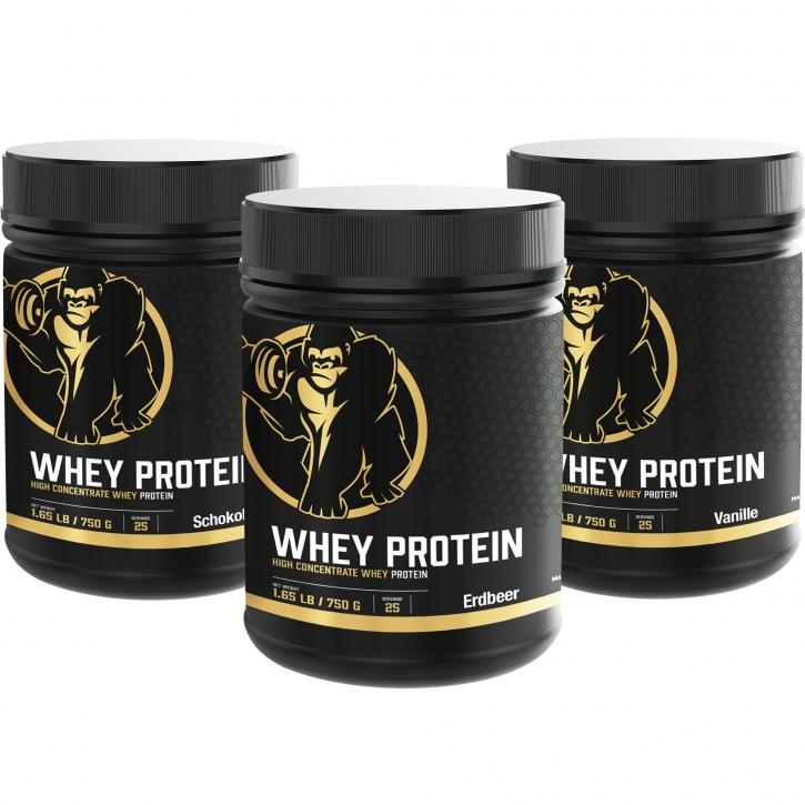 Whey Protein 750 g Erdbeer/Vanille/Schokolade