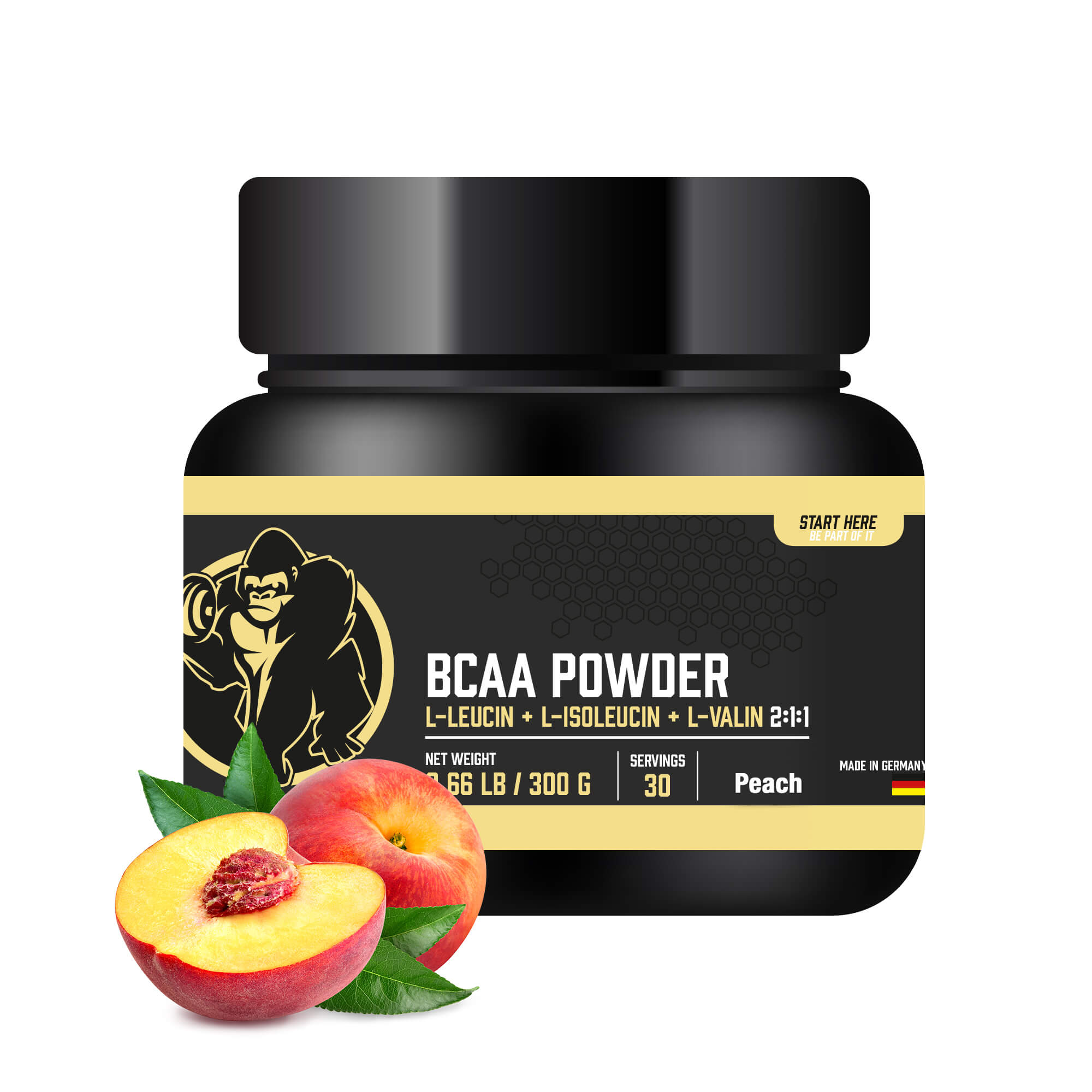 BCAA Pulver Pfirsich 300g
