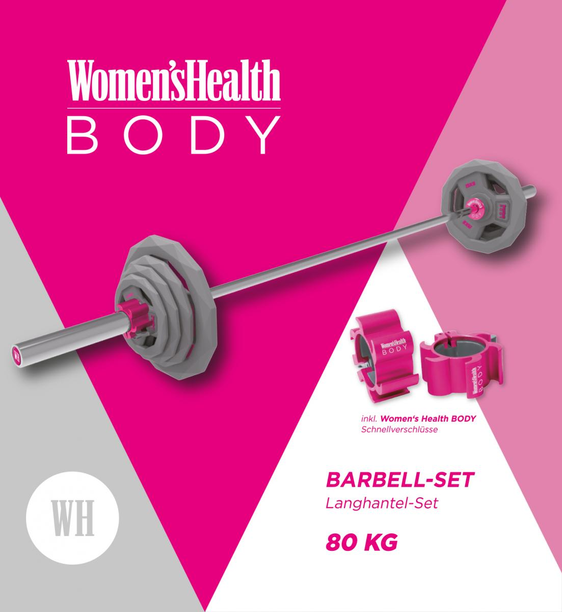 Lukadora Womens Health Langhantelset Olympia 80 kg LD-4210
