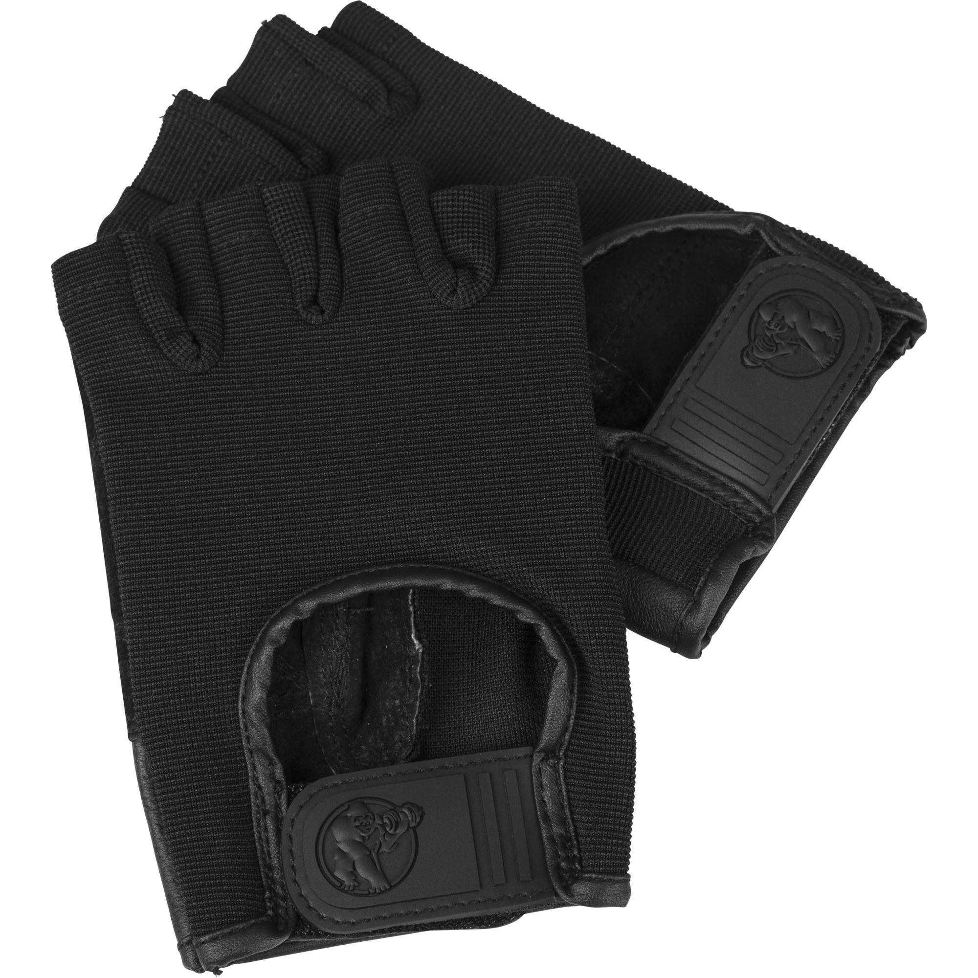 Fitness Handschuhe Leder Schwarz M